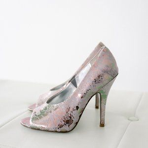 Jessica Simpson Newport Carbon Splatter Metal 7